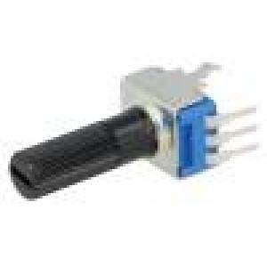 Potenciometr axiální jednootáčkový 1kΩ 125mW ±20% THT 6mm