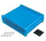 Kryt univerzální X:146,6mm Y:129mm Z:41,6mm modrá UL94V-0