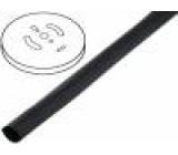 Teplem smrštitelná trubička s lepidlem 2:1 4,8mm černá