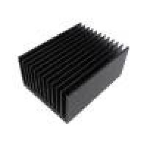 Chladič lisovaný žebrovaný černá L:150mm W:112mm H:67,5mm