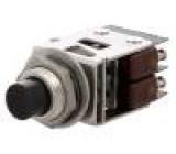 Přepínač tlačítkový 1-polohové SPDT 5A/250VAC 5A/30VDC černá