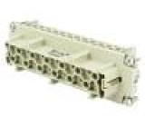 Konektor hranatý zásuvka PIN:24 24+PE velikost E24 16A 500V