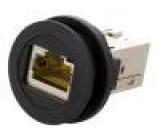 Zásuvka RJ45 22mm IP20 barva černá -25÷70°C Ø22,3mm