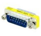 Přechod: adaptér z obou stran, D-Sub 15 pin vidlice