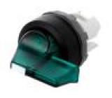 Přepínač otočný 2 polohy 22mm zelená Podsv: MLB-1 -25÷70°C