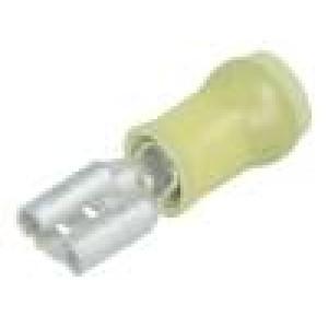 Konektor plochý 6,3mm 0,8mm zásuvka 3,31÷5,26mm2 krimpovací