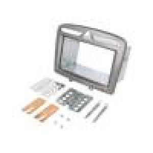Rámeček pro autorádio 2 DIN Peugeot stříbrná