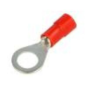 Zakončovací očko M6 Ø:6,2mm 0,25÷1,5mm2 krimpovací na kabel