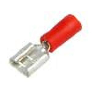 Konektor plochý 6,3mm 0,8mm zásuvka 0,25÷1,5mm2 krimpovací