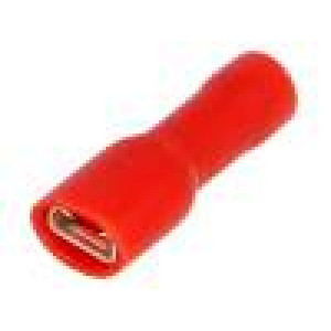 Konektor plochý 4,8mm 0,8mm zásuvka 0,25÷1,5mm2 krimpovací