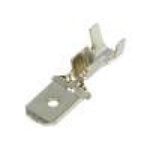 Konektor plochý 6,3mm 0,8mm kolík 1÷2,5mm2 krimpovací přímý