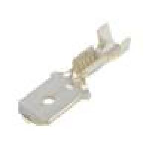 Konektor plochý 6,3mm 0,8mm kolík 0,5÷1mm2 krimpovací přímý