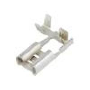 Konektor plochý 6,3mm 0,8mm zásuvka 0,5÷1mm2 krimpovací