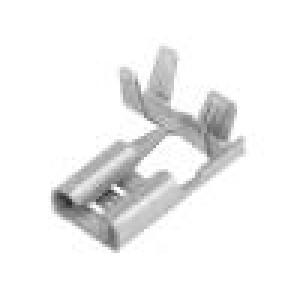 Konektor plochý 6,3mm 0,8mm zásuvka 1,5÷2,5mm2 krimpovací