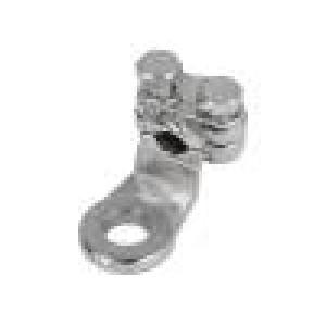 Zakončovací očko M8 25mm2 šroubová svorka na kabel niklovaný