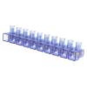 Svorkovnice póly:10 šroubová svorka koncová 4mm2 450V