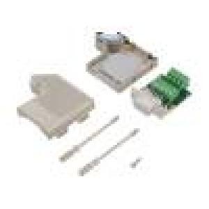 Zástrčka D-Sub PIN:9 zásuvka úhlové 55° šroubová svorka 50V