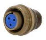 Konektor vojenský Řada:97 zástrčka zásuvka PIN:3 stříbřený