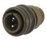 Konektor vojenský Řada:97 zástrčka vidlice PIN:4(2+2) pájení