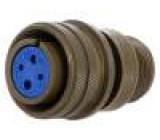 Konektor vojenský Řada:97 zástrčka zásuvka PIN:4(2+2) pájení