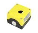 Kryt: pro dálkový ovladač X:85mm Y:89,4mm Z:64mm kov žlutá
