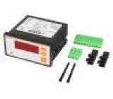 Panelový ampérmetr AC LED I AC:0,05÷5,75A True RMS 91x45mm