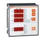 Panelový měřič výkonu LED V AC:30÷480V I AC:0,05÷6A True RMS