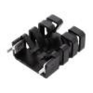 Chladič lisovaný TO218 černá L:36,3mm W:25,4mm H:12,7mm