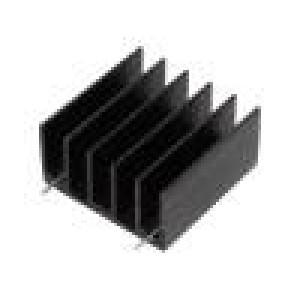 Chladič lisovaný TO220,TO247 černá L:30mm W:30mm H:15mm
