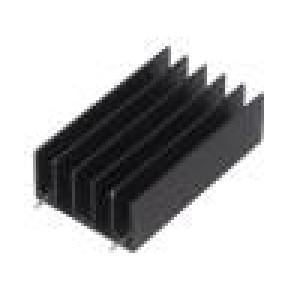 Chladič lisovaný TO220,TO247 černá L:50mm W:30mm H:15mm