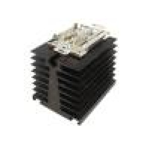 Heatsink: extruded for one phase solid state relays black