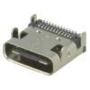 Zásuvka USB C SMT úhlové 90° V: USB 3.1
