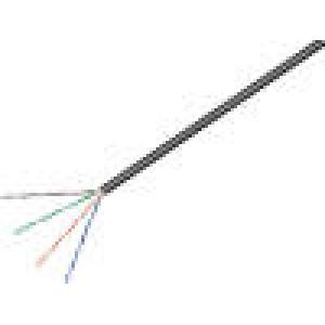 Kabel U/UTP 6 externí licna CCA 4x2x24AWG PE černá