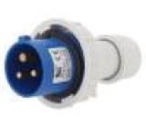 Konektor napájecí AC zástrčka vidlice na kabel 16A 400VAC