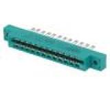 Na hranu PIN:24 pájení do panelu, na kabel zlacený 3,96mm
