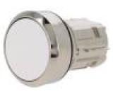 Přepínač: tlačítkový 1-polohové 22mm bílá Podsv: není IP67