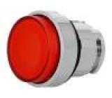 Přepínač: tlačítkový 1-polohové 22mm červená IP66 Polohy: 2