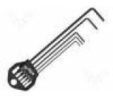 Sada: klíče 5ks imbus Vlastnosti: fosfátování manganem
