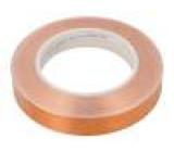 Knot: elektricky vodivá W:19mm L:33m D:0,066mm Mat: měď UL510