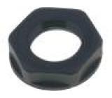 Matice PG7 polyamid UL94V-2 19mm černá -20÷100°C V: s límcem