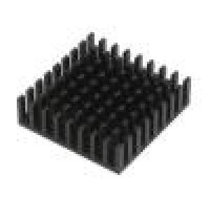 Chladič lisovaný černá L:19mm W:19mm H:10mm hliník eloxovaný