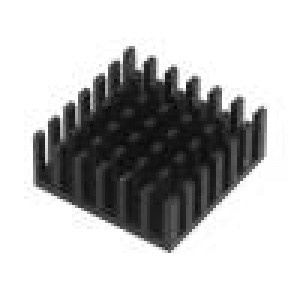 Chladič lisovaný černá L:25mm W:25mm H:10mm hliník eloxovaný