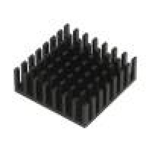 Chladič lisovaný černá L:29mm W:29mm H:10mm hliník eloxovaný