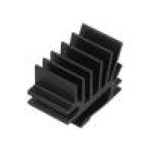 Chladič lisovaný žebrovaný TO220 černá L:15mm W:19,4mm