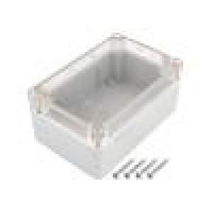 Kryt: univerzální X:78,2mm Y:118,2mm Z:54,8mm ABS šedá IP65