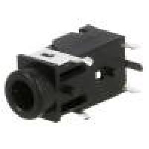 Zásuvka Jack 3,5mm zásuvka stereo póly:4 úhlové 90° THT