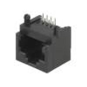 Zásuvka RJ45 PIN:8 Uspořádání výv:8p8c THT na plošný spoj