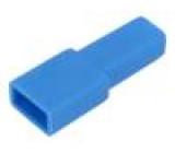 Návlek na konektor zásuvka přímý pro fastony 6,3mm póly:1