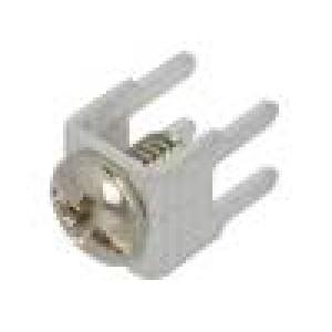Konektor šroubová svorka THT, šroubová svorka stříbrná přímý