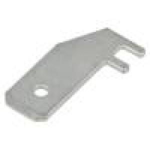 Konektor plochý 6,3mm 0,8mm kolík ocel pocínovaný